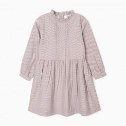 'LEAVES' GIRL DRESS, PURPLE
