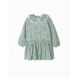 SQUIRRELS GIRL DRESS, GREEN