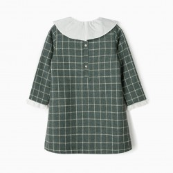 CHECKERED GIRL DRESS 'B&S', GREEN