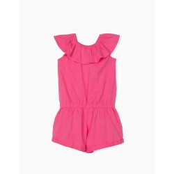 JUMPSUIT WITH RUFFLE FOR GIRLS, PINK