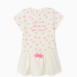 BABY GIRL DRESS 'LITTLE THINGS' WHITE/PINK