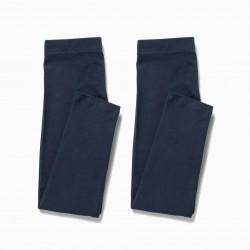 2 GIRL LEGGINGS, DARK BLUE