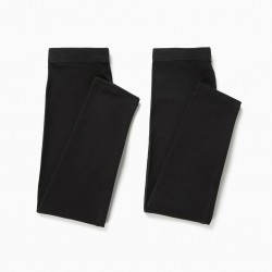2 LEGGINGS FOR GIRLS, BLACK