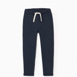 GIRL'S TRACK PANTS, DARK BLUE