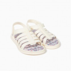 'ZY DELICIOUS' GIRLS SANDALS, WHITE