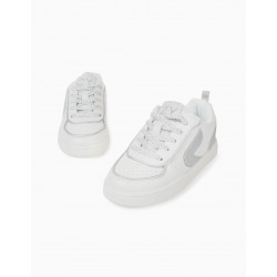 TRAINERS FOR GIRLS 'ZY', WHITE / SILVER
