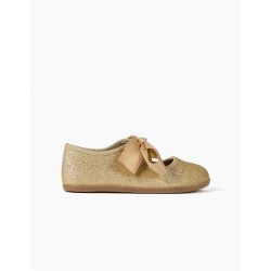 SHINY BALLERINAS FOR GIRLS, GOLD