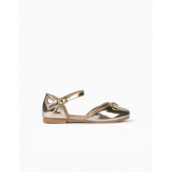 OPEN BALLERINAS FOR GIRLS, GOLD