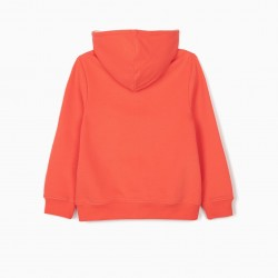 CORAL GIRL HOODED COAT
