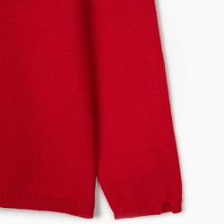 GIRL'S CARDIGAN, RED