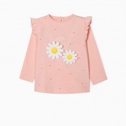 'BETTER TOGETHER' LONG SLEEVE BABY GIRL T-SHIRT, PINK