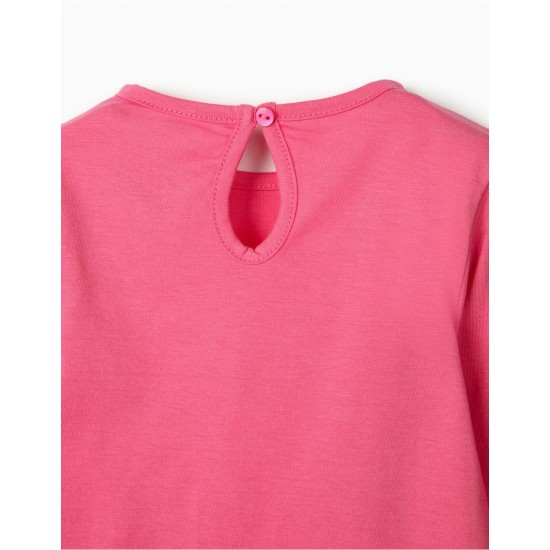 BABY STAR 'BABY STAR' LONG SLEEVE T-SHIRT, PINK