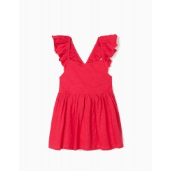 RUFFLED TOP FOR GIRLS, PINK