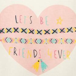 'FRIENDS' GIRL T-SHIRT, WHITE