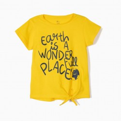 3 T-SHIRTS FOR GIRL 'EARTH', MULTICOLOR