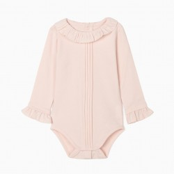 BODY WITH RUFFLES FOR BABY GIRL, PINK
