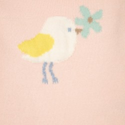 'CUTE BIRD' NEWBORN KNITTED SWEATER, PINK