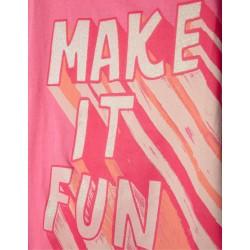 'MAKE IT FUN' GIRL T-SHIRT, PINK