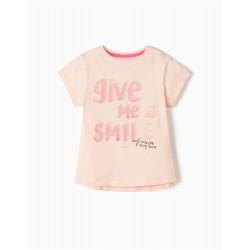 'SMILE' GIRL T-SHIRT, PINK