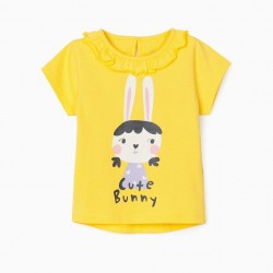 'CUTE BUNNY' BABY GIRL T-SHIRT, YELLOW