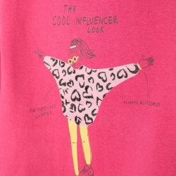 'COOL INFLUENCER' GIRLS SWEATSHIRT, PINK