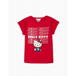 HELLO KITTY GIRL T-SHIRT, RED