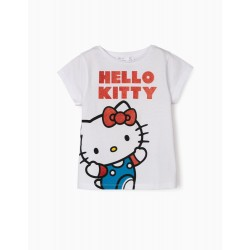 HELLO KITTY GIRL T-SHIRT, WHITE