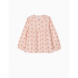 FLORAL SHIRT FOR GIRL, PINK