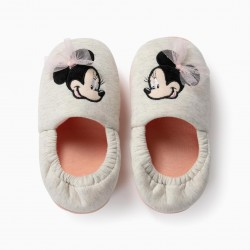 HOUSE SLIPPERS FOR GIRL 'MINNIE BALLERINA', GRAY
