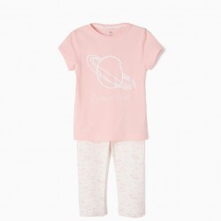 COSMIC GIRL SHORT SLEEVE PAJAMAS AND PANTS