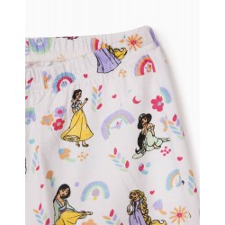 GIRLS 'DISNEY PRINCESSES' PAJAMA, YELLOW / WHITE