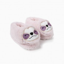FANTASY SLIPPERS FOR GIRLS 'QUEEN SLOTH', PINK