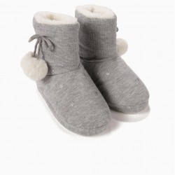 GRAY STAR SLIPPERS