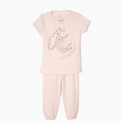 DOLCE FARE NIENTE SLOTHS GIRL PAJAMAS, LIGHT PINK