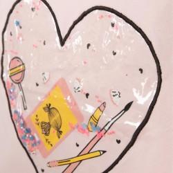 'HEART' GIRL PAJAMAS, PINK