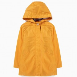 HOODED YELLOW PARKA