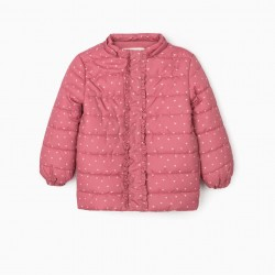 'HEARTS' GIRL'S QUILTED JACKET, PINK