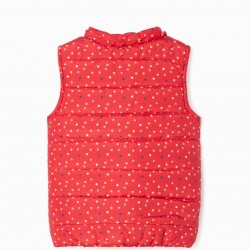 'HEARTS' GIRL'S QUILTED VEST, RED