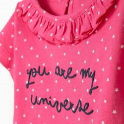 BABY GIRL T-SHIRT & SHORTS 'MY UNIVERSE', PINK/BLUE
