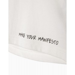 'MAKE YOUR MANIFESTO' GIRL T-SHIRT, WHITE