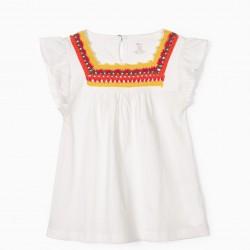CROCHET GIRL T-SHIRT, WHITE
