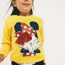 SWEATSHIRT FOR GIRL 'MINNIE', YELLOW