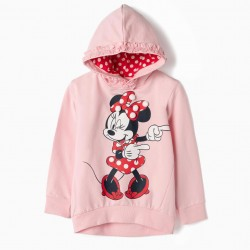 GIRLS 'MINNIE' HOODED SWEATSHIRT, PINK