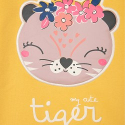 CUTE TIGER GIRL SWEATSHIRT, YELLOW