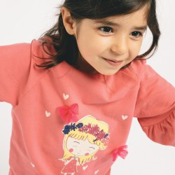 'HAPPINESS' GIRL SWEATSHIRT, PINK