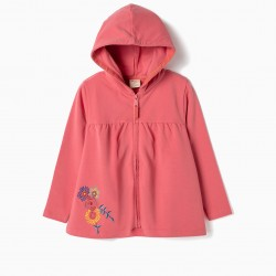 COAT FOR GIRLS 'FLOWERS', PINK