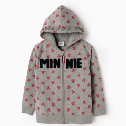GIRLS 'MINNIE' HOODED COAT, GRAY