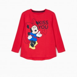 MINNIE KISS RED LONG SLEEVE T-SHIRT