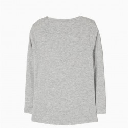 Long Sleeve T-shirt LONG SLEEVE T-SHIRT FOR GIRL, GRAY