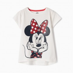 T-SHIRT FOR GIRL 'MINNIE', WHITE